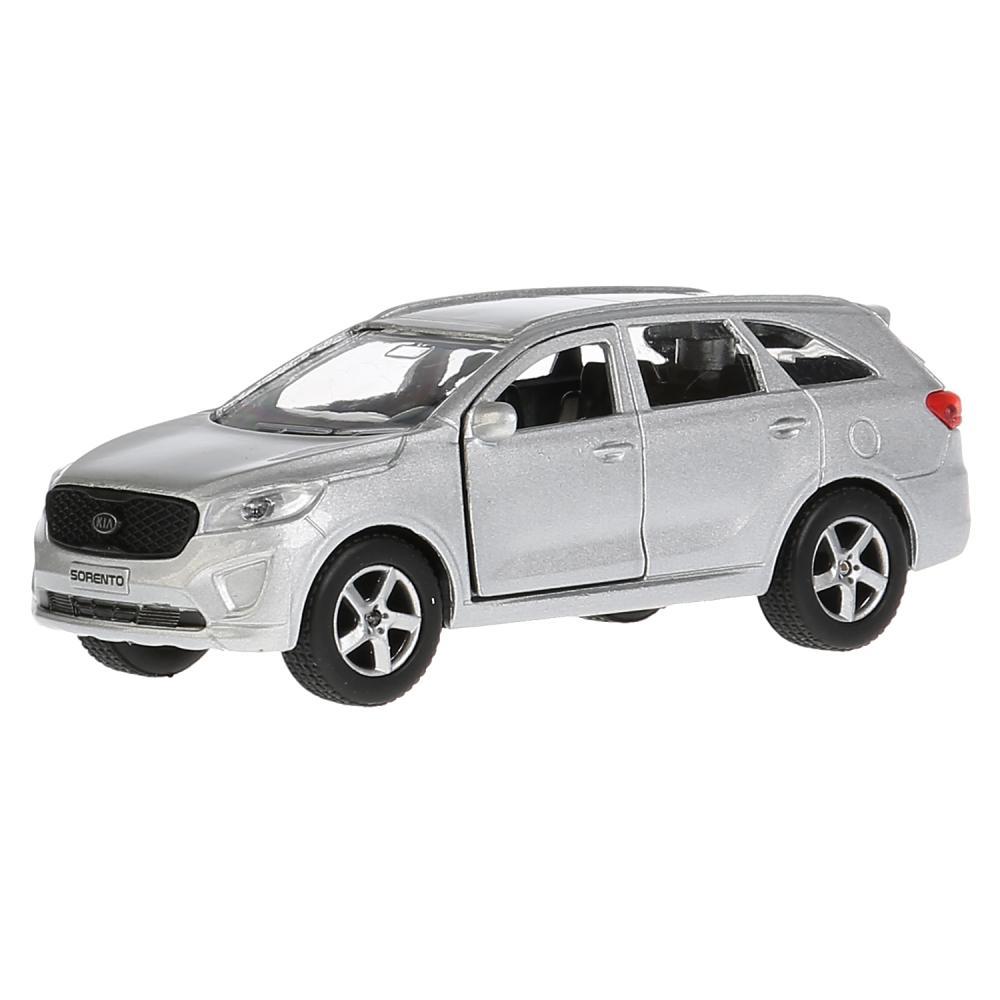 Купить Машина металлическая Kia Sorento Prime серебристый, 12 см, открываются двери и багажник, инерционная -WB), Технопарк