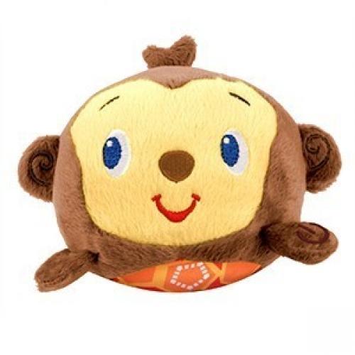 Погремушка Плюшевый хохотунчик ОбезьянкаДетские погремушки и подвесные игрушки на кроватку<br>Погремушка плюшевый «Хохотунчик» – это веселый, симпатичный зверек в виде шарика, который издает забавные звуки, мелодии, стоит только хло...<br>