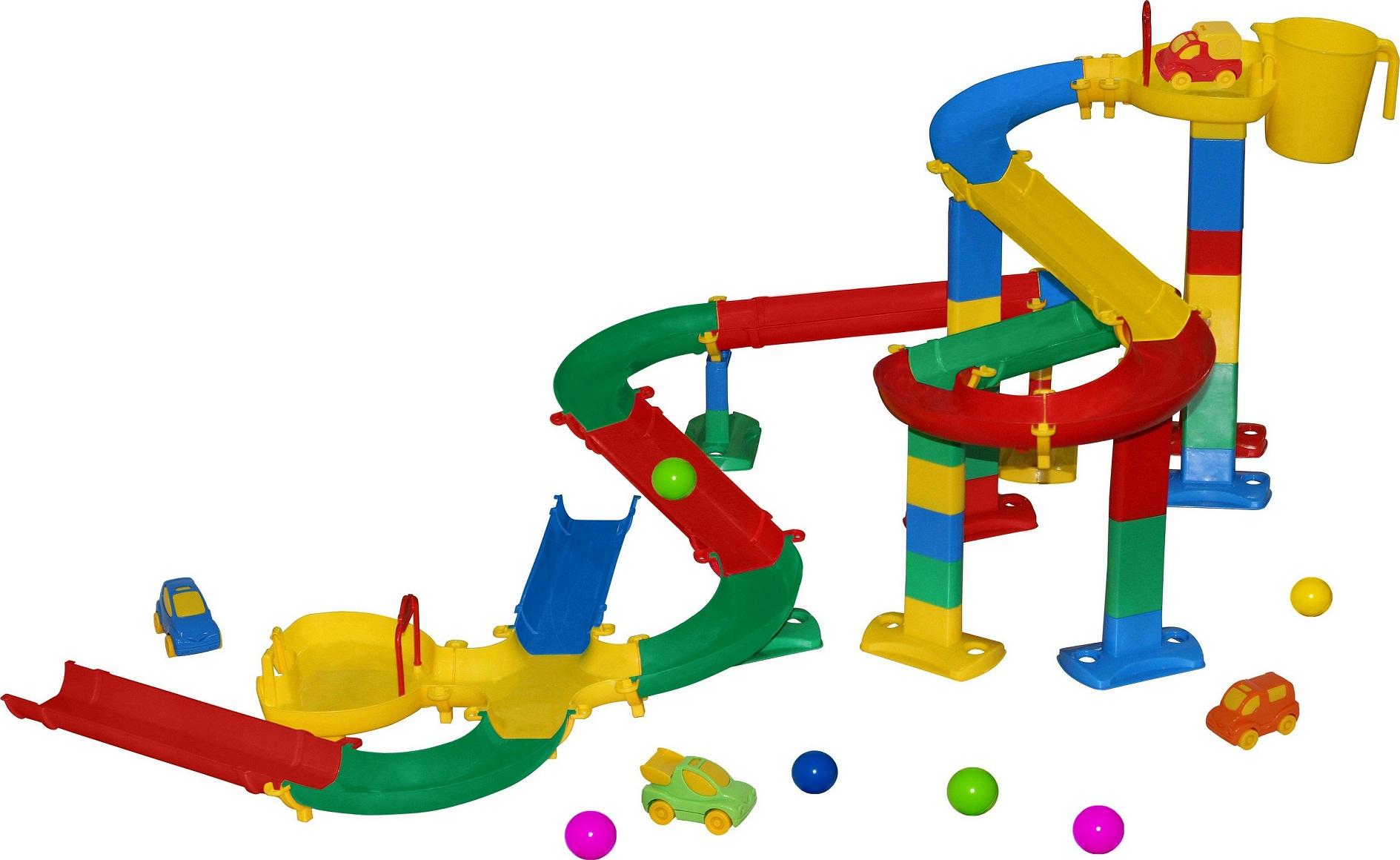 Горка для шариков, набор №2 в пакетеДетские развивающие игрушки Полесье<br>Горка для шариков, набор №2 в пакете<br>