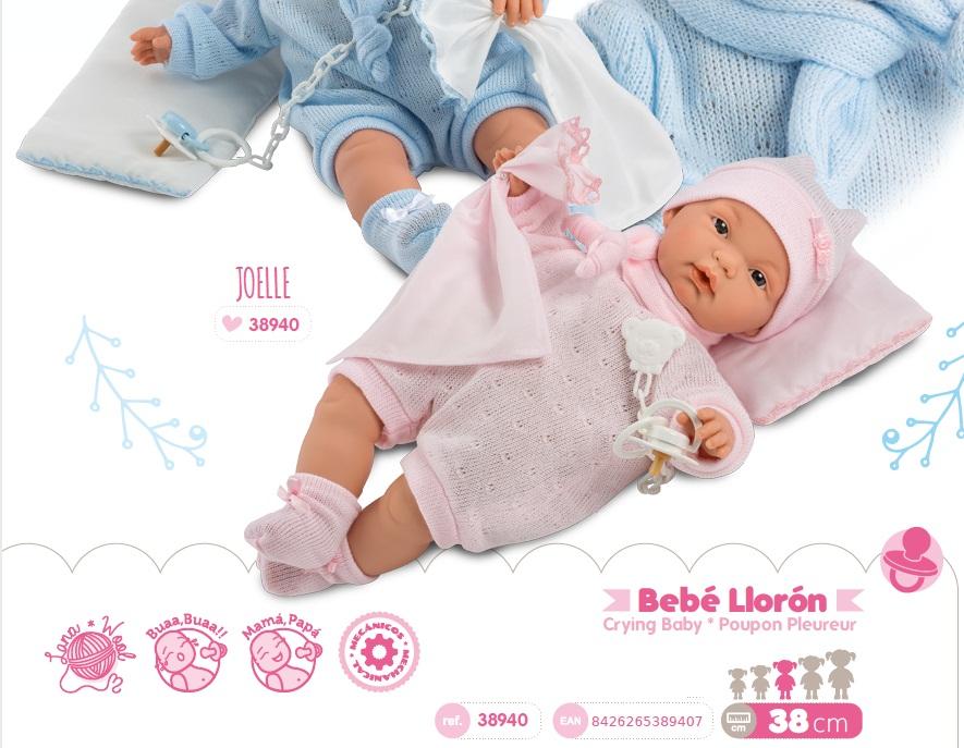 Купить Интерактивная кукла Жоелле, 38 см, Llorens Juan