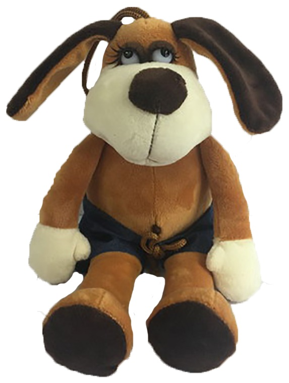 Мягкая игрушка - Собака в шортах, 18 смСобаки<br>Мягкая игрушка - Собака в шортах, 18 см<br>