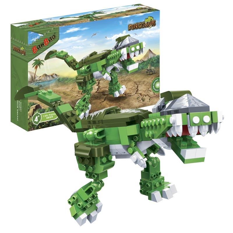 Конструктор Динозавр, 135 деталейКонструкторы BANBAO<br>Конструктор Динозавр, 135 деталей<br>