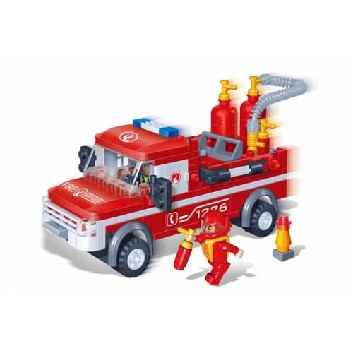 Конструктор с аксессуарами - Пожарный джипКонструкторы BANBAO<br>Конструктор с аксессуарами - Пожарный джип<br>