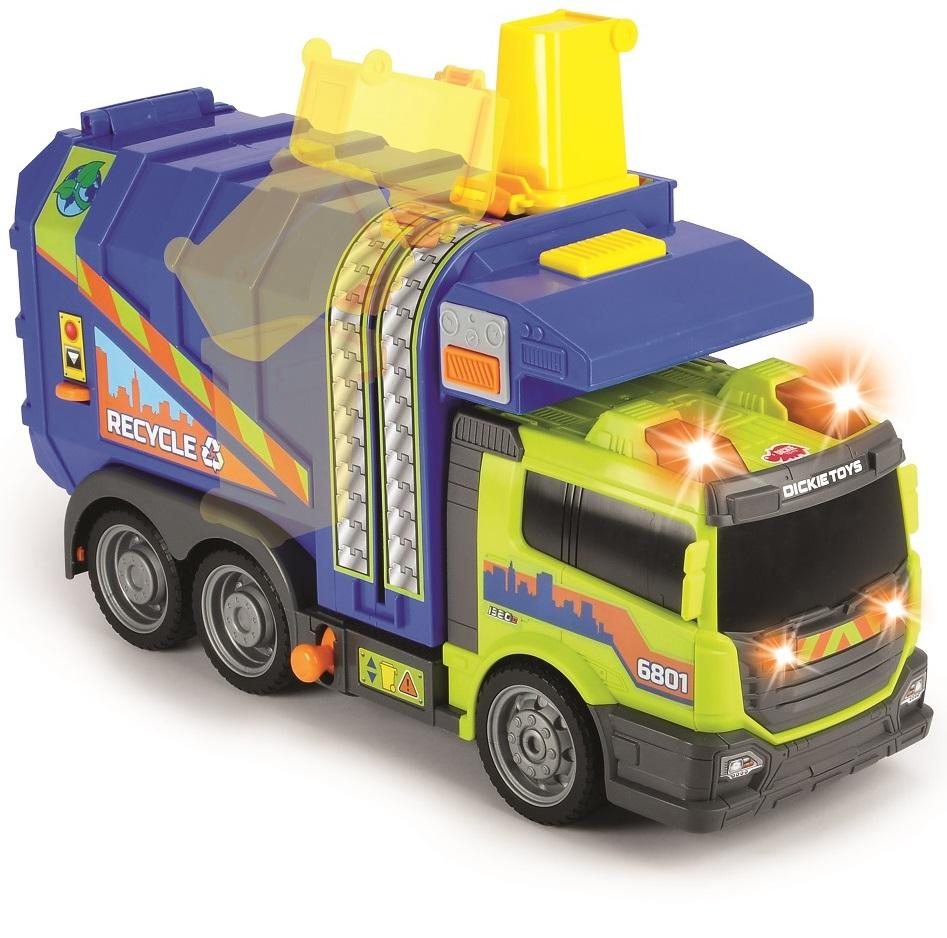 Купить Мусоровоз со светом и звуком, функциональный, 39 см, Dickie Toys