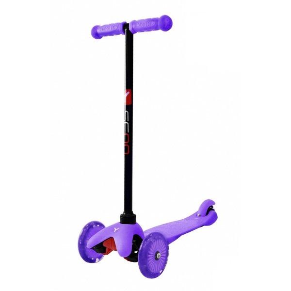 Трехколесный самокат со светящимися колесами RT MINI SHINE A5 violet, 4524RTТрехколесные самокаты<br>Трехколесный самокат со светящимися колесами RT MINI SHINE A5 violet, 4524RT<br>