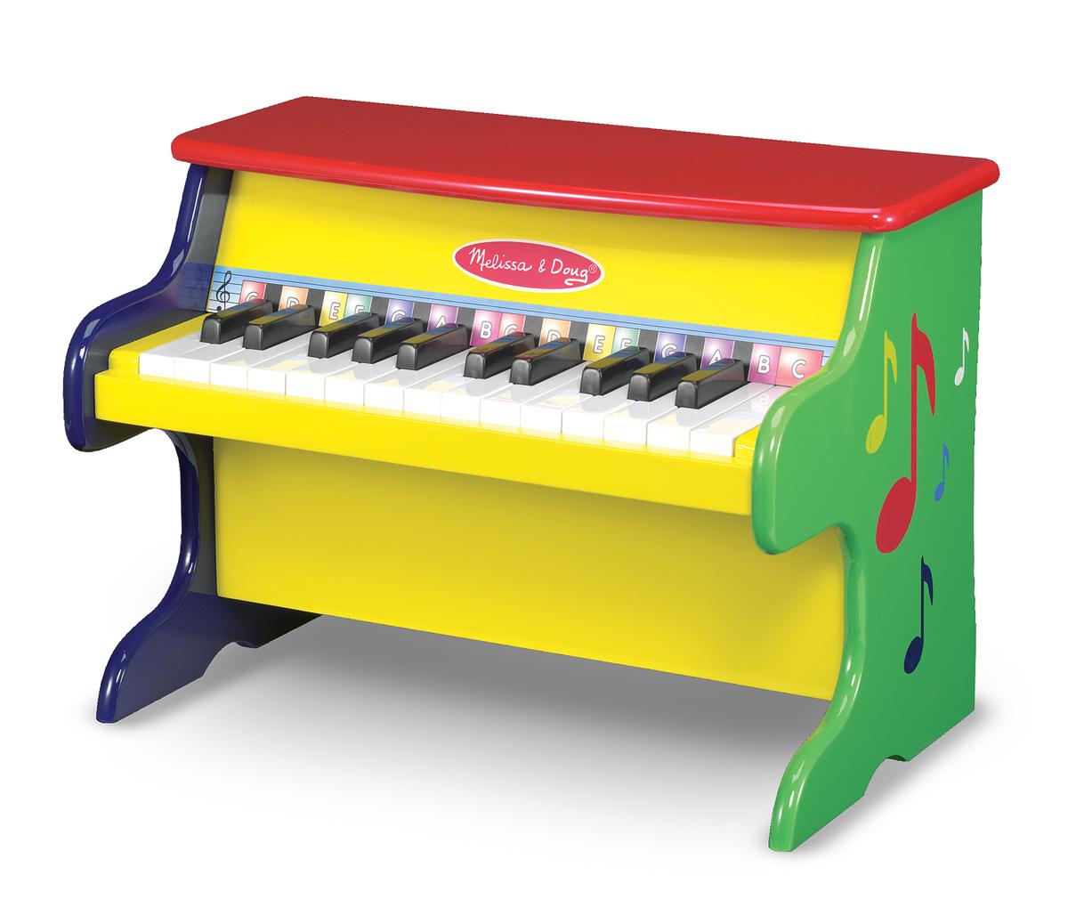 Деревянное пианино «Учимся играть» - Синтезаторы и пианино, артикул: 138784