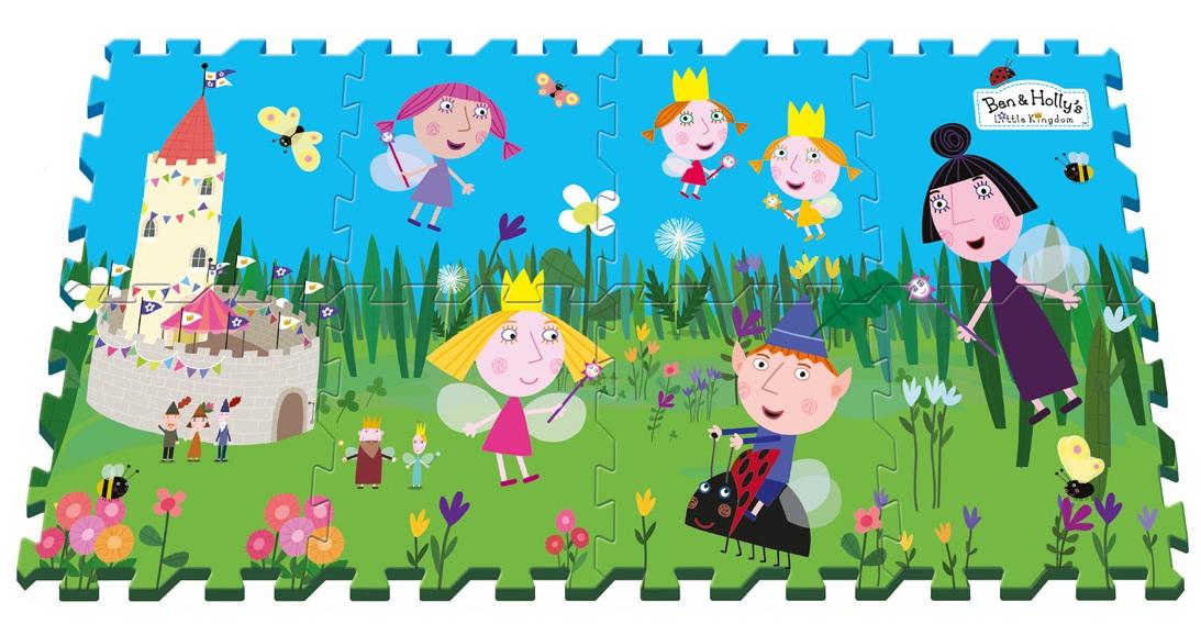 Коврик пазл Ben &amp; Holly The Little Kingdom, 8 сегментовКоврики-пазлы<br>Коврик пазл Ben &amp; Holly The Little Kingdom, 8 сегментов<br>