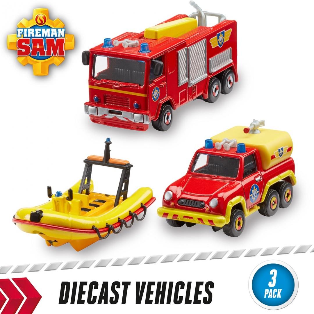 Игрушка транспортная из серии «Пожарный Сэм», 3 шт., 1:64Пожарный СЭМ<br>Игрушка транспортная из серии «Пожарный Сэм», 3 шт., 1:64<br>