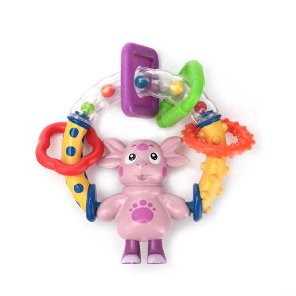 Погремушка с вращающейся фигуркой героя ЛунтикДетские погремушки и подвесные игрушки на кроватку<br>Погремушка с вращающейся фигуркой героя Лунтик<br>
