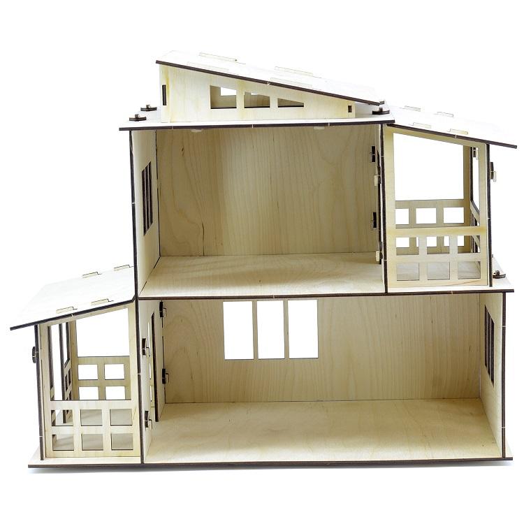 Кукольный домик конструктор серия Я Дизайнер - Загородная Вилла фото