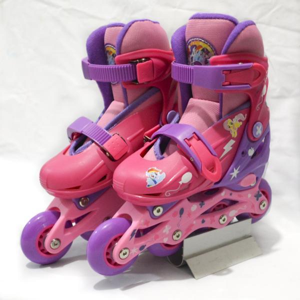 Ролики раздвижные 2 в 1 - Мой Маленький Пони, колеса 6х1,8 см, размер 28-31, розовыеРоликовые коньки детские<br>Ролики раздвижные 2 в 1 - Мой Маленький Пони, колеса 6х1,8 см, размер 28-31, розовые<br>