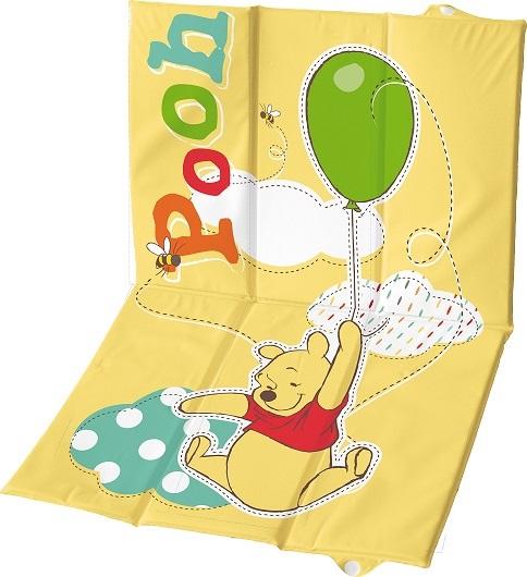 Пеленальный матрасик с мягким основанием Винни Пух, желтый, 58х40 смСтолы для пеленания<br>Пеленальный матрасик с мягким основанием Винни Пух, желтый, 58х40 см<br>
