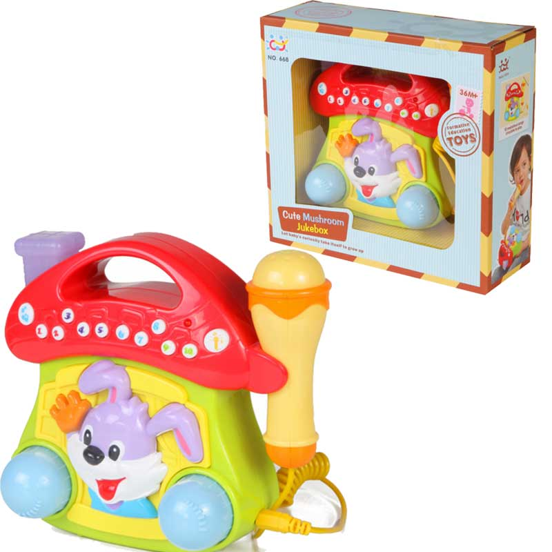 Детская игрушка  Домик с микрофоном, свет и звук - Микрофоны и танцевальные коврики, артикул: 166352