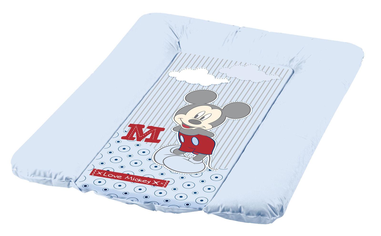 Пеленальный матрац с мягким основанием Микки, ярко-синий, 50х70 смГигиена малыша<br>Пеленальный матрац с мягким основанием Микки, ярко-синий, 50х70 см<br>