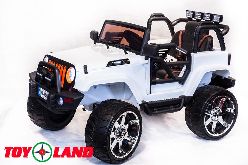Электромобиль Jeep белыйЭлектромобили, детские машины на аккумуляторе<br>Электромобиль Jeep белый<br>