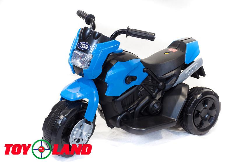 Электромотоцикл Toyland синего цветаМотоциклы детские на аккумуляторе<br>Электромотоцикл Toyland синего цвета<br>