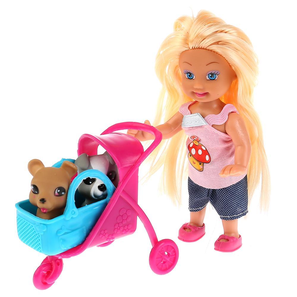 Купить Кукла - Машенька 12 см., в комплекте с набором для пикника, 2 питомца, аксессуары, Карапуз