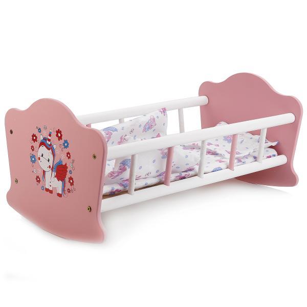 Мебель для кукол Милый пони – Кроватка с постельными принадлежностями, 52 смДетские кроватки для кукол<br>Мебель для кукол Милый пони – Кроватка с постельными принадлежностями, 52 см<br>