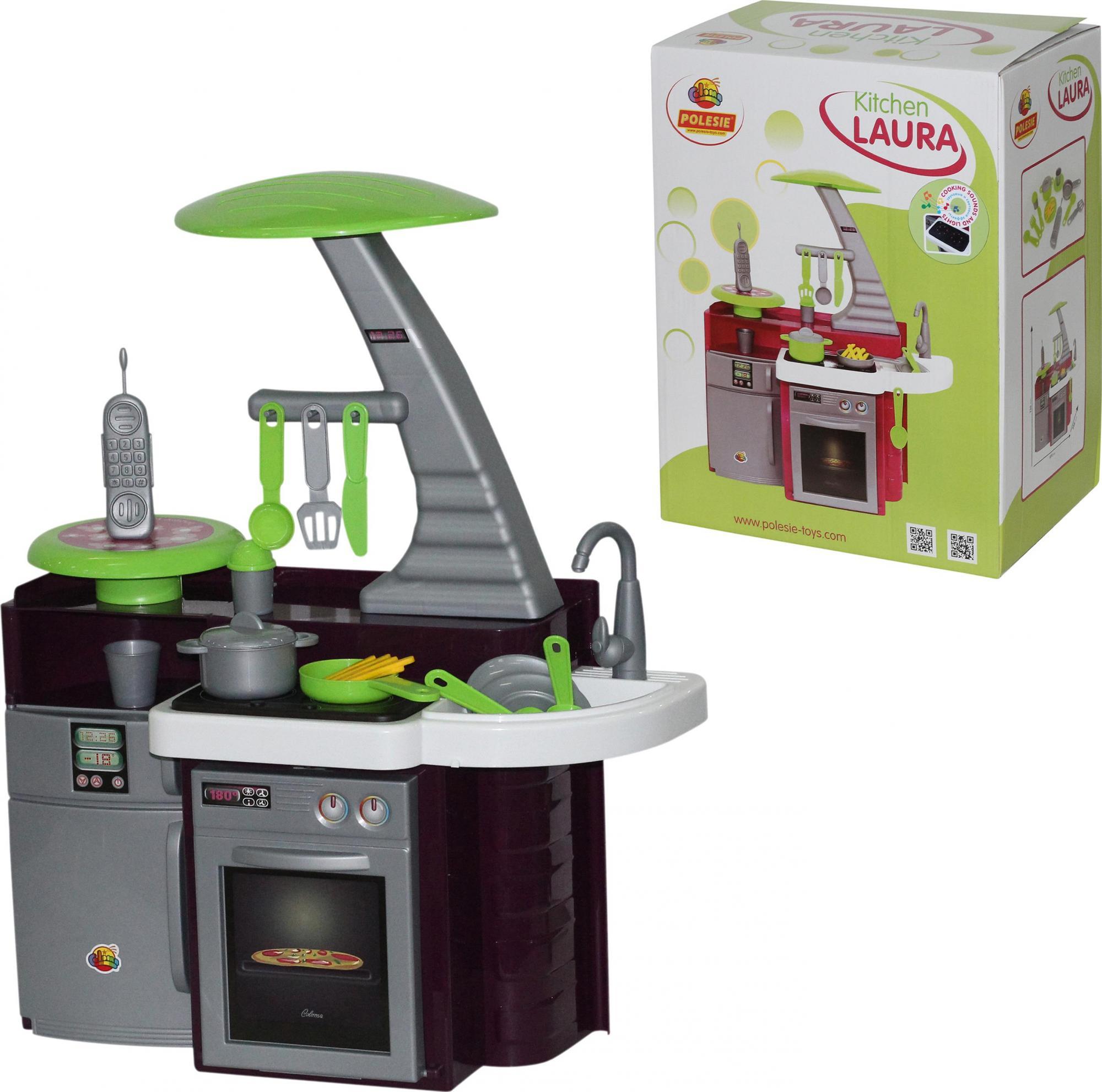 Купить Игровая кухня Laura с варочной панелью, в коробке, Полесье