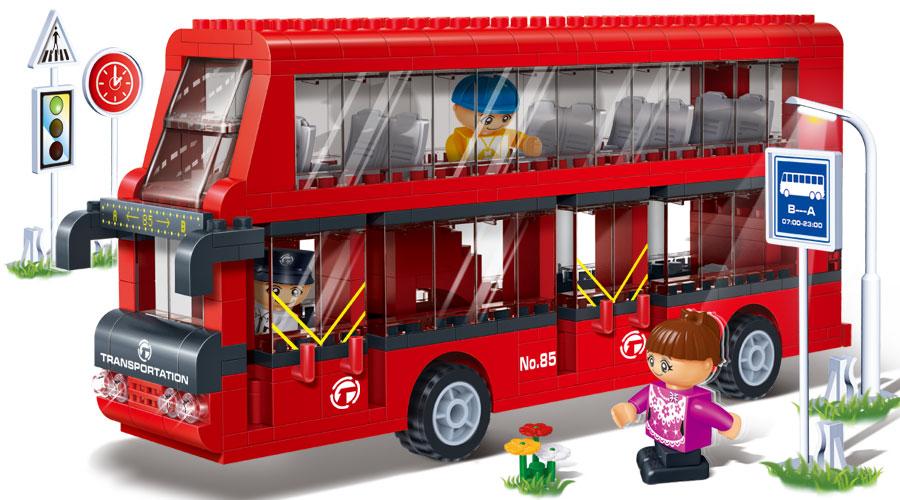 Двухэтажный автобус - Пожарные машины, автобусы, вертолеты и др. техника, артикул: 98344