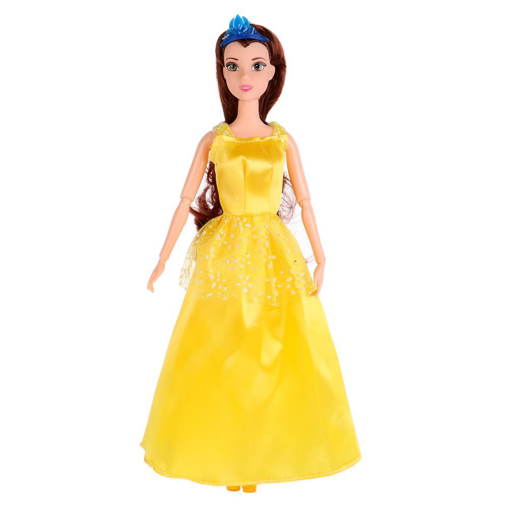 Купить Кукла София принцесса в желтом платье с аксессуаром, 29 см, Карапуз