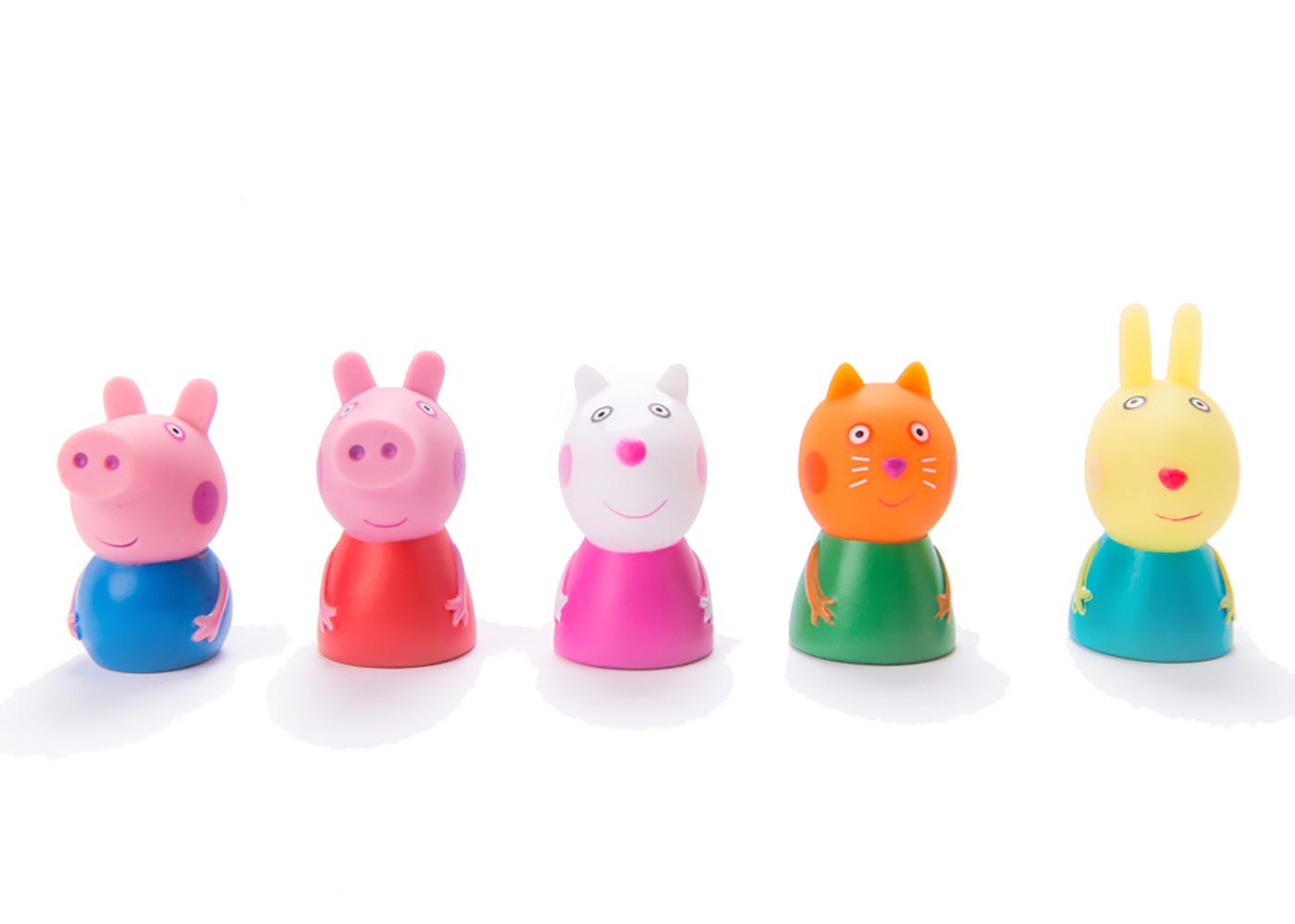 Пальчиковый театр Peppa Pig 5 фигурок, на блистере