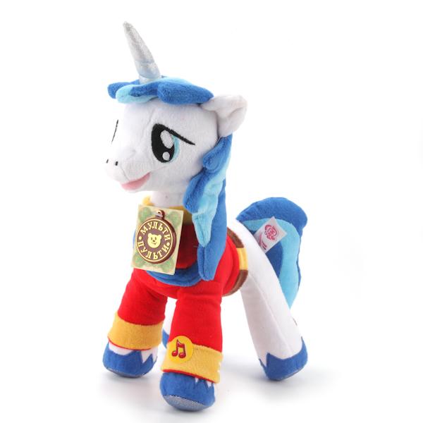 Мягкая игрушка пони Принц Армор из мультфильма «Моя маленькая пони», озвученнаяМоя маленькая пони (My Little Pony)<br>Мягкая игрушка пони Принц Армор из мультфильма «Моя маленькая пони», озвученная<br>