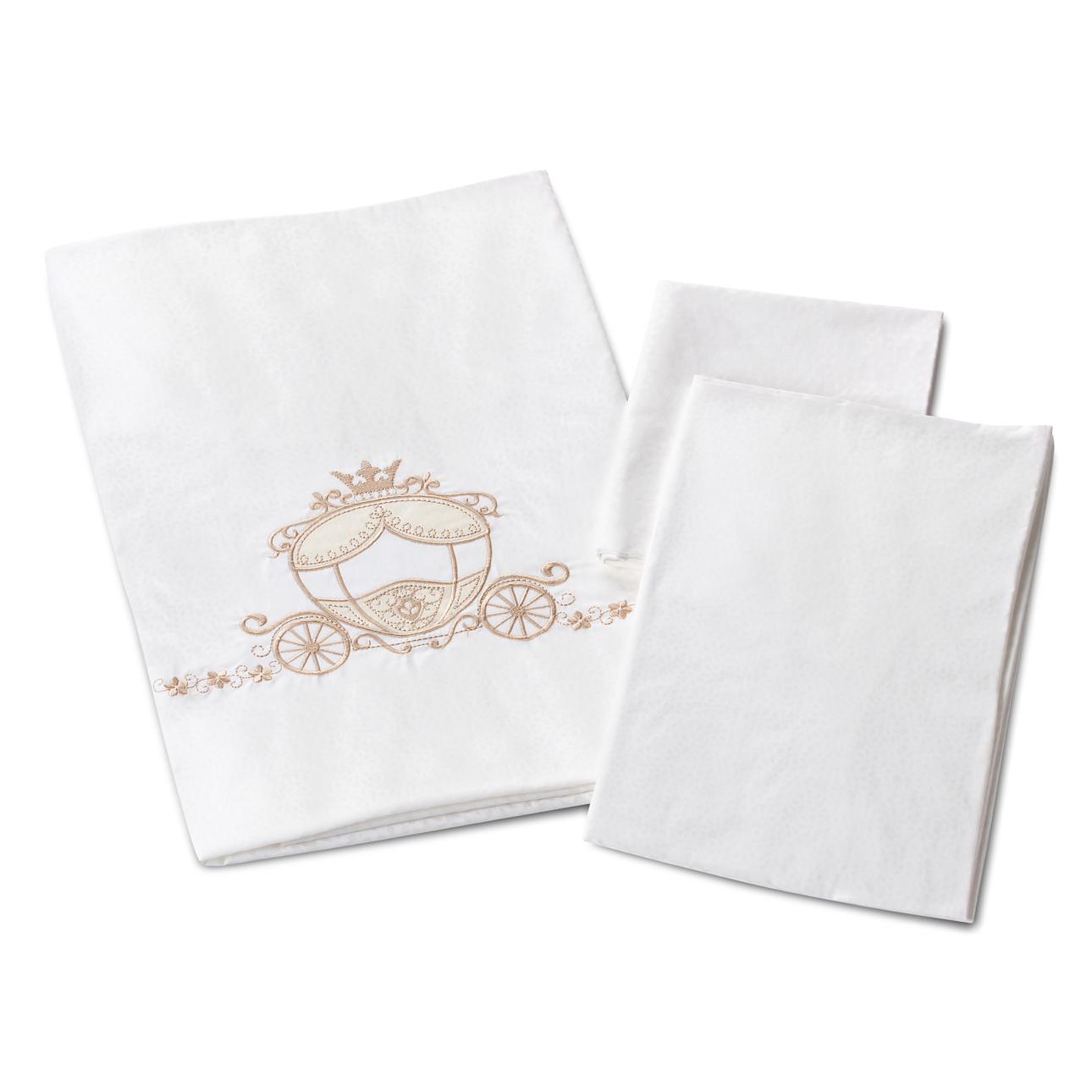 Комплект в кроватку - Prestigio Pizzo, 6 предметовДетское постельное белье<br>Комплект в кроватку - Prestigio Pizzo, 6 предметов<br>