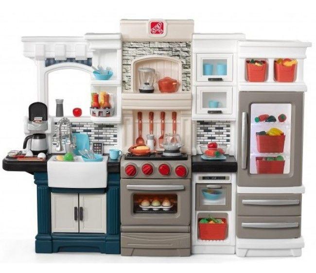 Кухня Step 2 Гранд-люкс с техникой и посудойДетские игровые кухни<br>Кухня Step 2 Гранд-люкс с техникой и посудой<br>