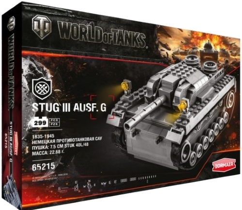 Конструктор World of Tanks Stug III Ausf. G, 299 деталейКонструкторы других производителей<br>Конструктор World of Tanks Stug III Ausf. G, 299 деталей<br>