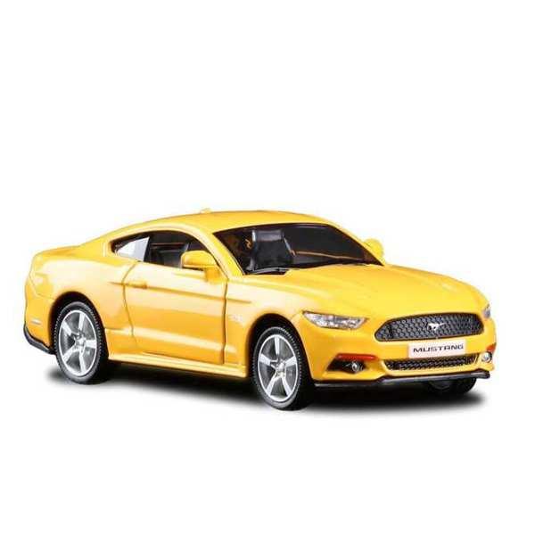 Купить Металлическая инерционная машина - Ford Mustang 2015, 1:32, желтый, RMZ City