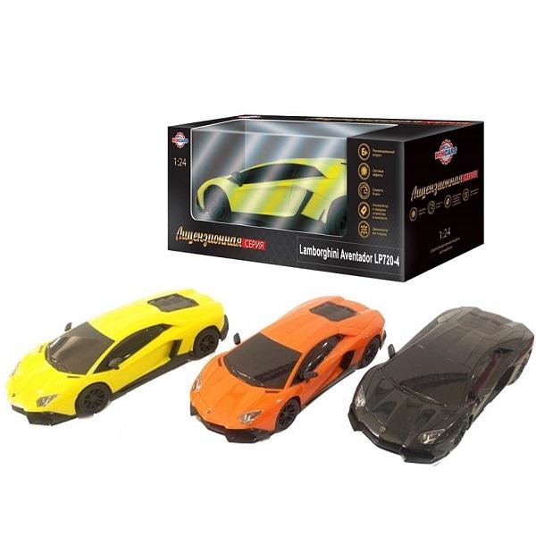 картинка Автомобиль Lamborghini Aventador LP720-4 лицензия на радиоуправлении, масштаб 1:24, зарядное устройство в комплекте от магазина Bebikam.ru