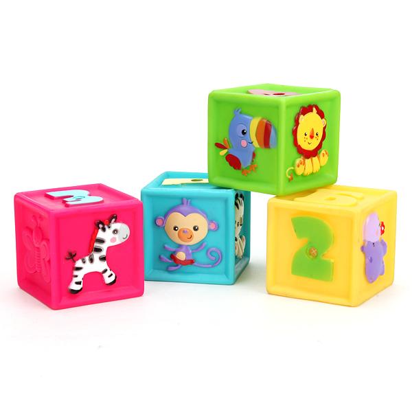 Купить Кубики-пищалки для ванны «Фишер Прайс», в коробке, Играем вместе