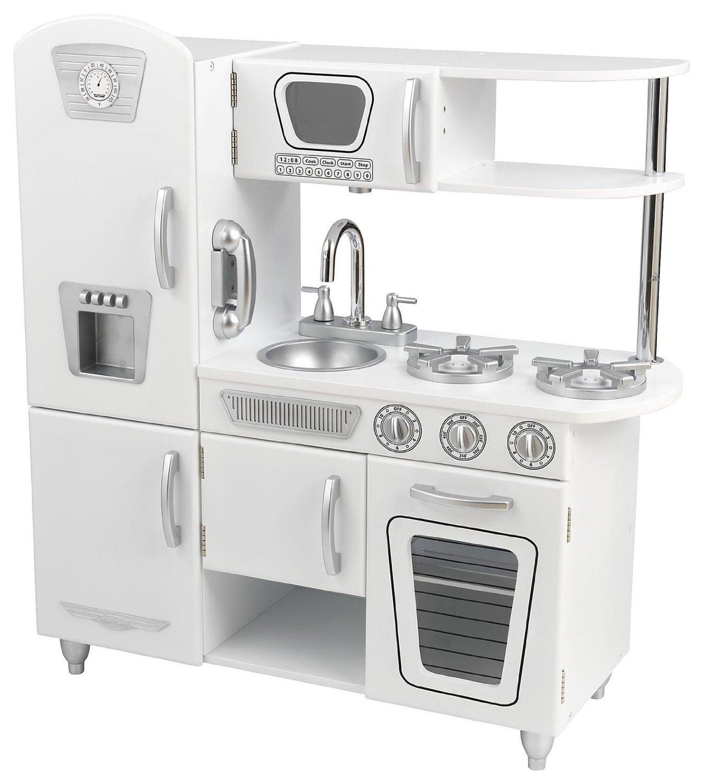 Детская игрушечная кухня из дерева Винтаж White Vintage Kitchen, цвет белыйДетские игровые кухни<br>Детская игрушечная кухня из дерева Винтаж White Vintage Kitchen, цвет белый<br>