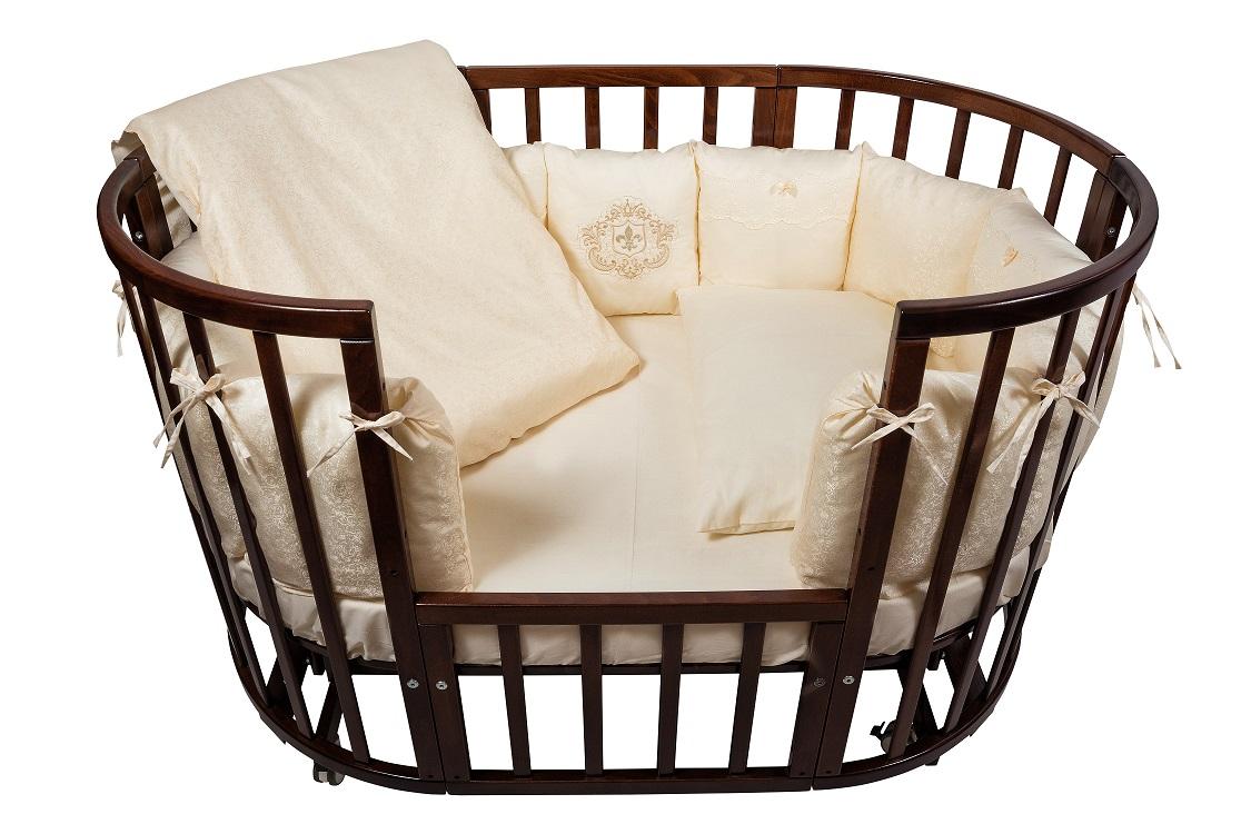 Комплект в кроватку из серии Nuovita Corona, 6 предметов, борт из 12 подушекДетское постельное белье<br>Комплект в кроватку из серии Nuovita Corona, 6 предметов, борт из 12 подушек<br>