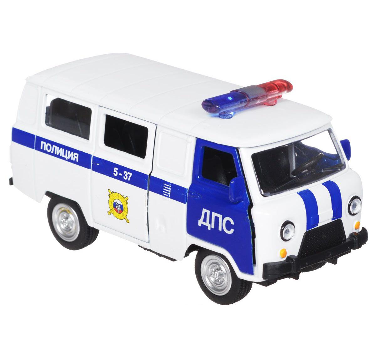 Купить Машина металлическая инерционная - Уаз 39625 – Полиция, ДПС, Технопарк