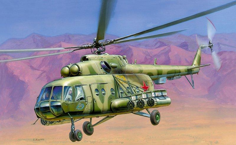 Модель для склеивания - Вертолёт Ми-17Модели вертолетов для склеивания<br>Модель для склеивания - Вертолёт Ми-17<br>