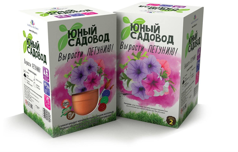 Набор дл кспериментов Юный садовод - Вырасти петуньНаборы дл выращивани растений<br>Набор дл кспериментов Юный садовод - Вырасти петунь<br>