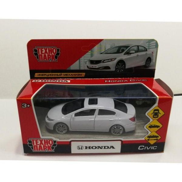 Купить Машина металлическая Honda Civic, 12 см, открываются двери, инерционная, белая, Технопарк