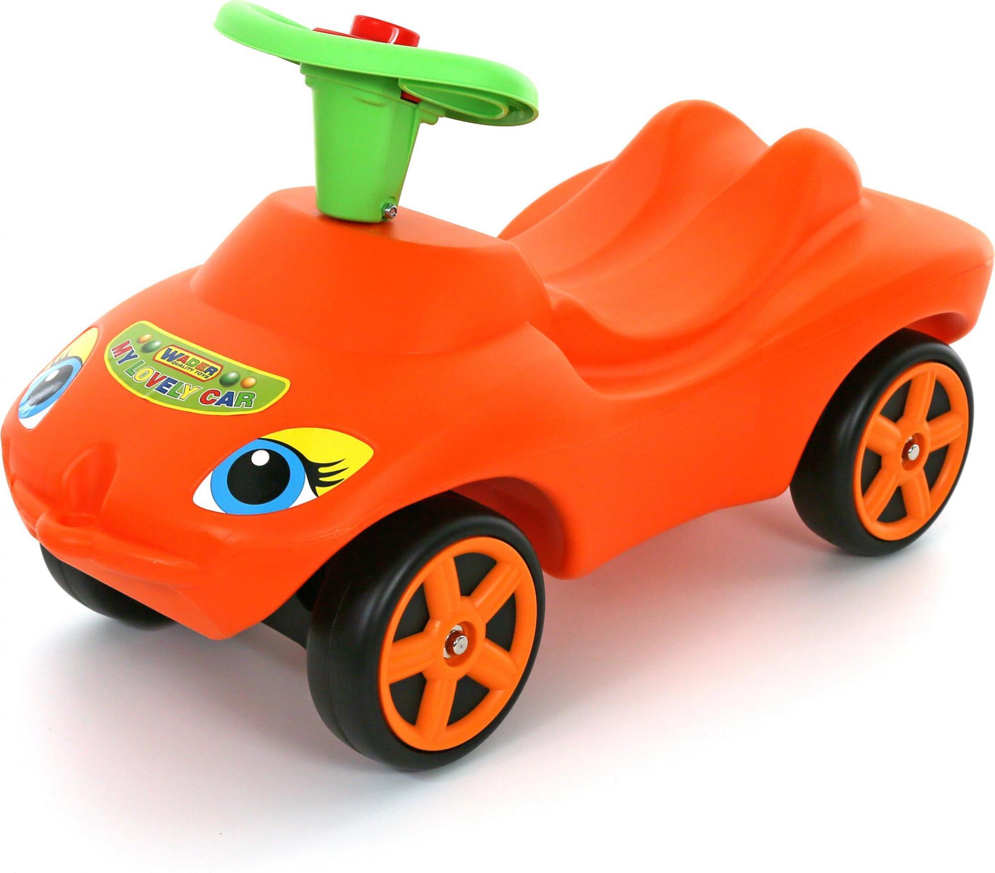Каталка - Мой любимый автомобиль, оранжевая со звуковым сигналомМашинки-каталки для детей<br>Каталка - Мой любимый автомобиль, оранжевая со звуковым сигналом<br>
