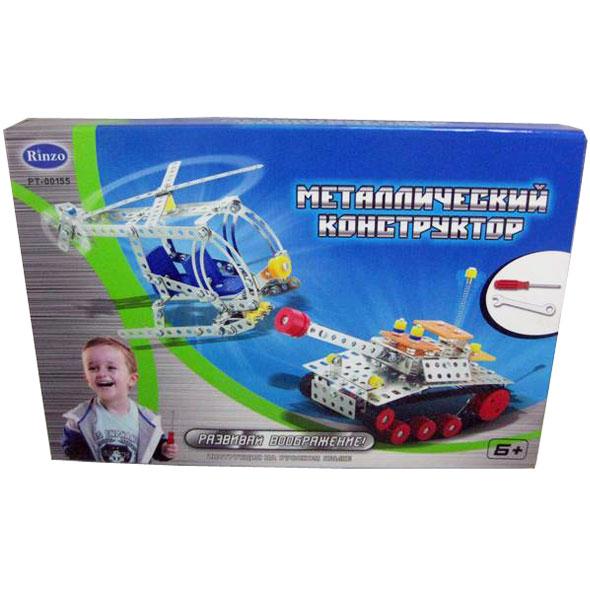 Конструктор металлический- танк и вертолёт, 232 деталиМеталлические конструкторы<br>Конструктор металлический- танк и вертолёт, 232 детали<br>