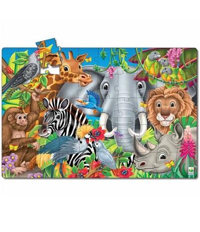 Пазл и раскраска - Забавные факты о животном миреПазлы для малышей<br>Пазл и раскраска - Забавные факты о животном мире<br>