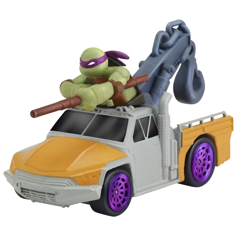 Машинка Черепашки-ниндзя - Донни на подъемнике, 7 см Playmates