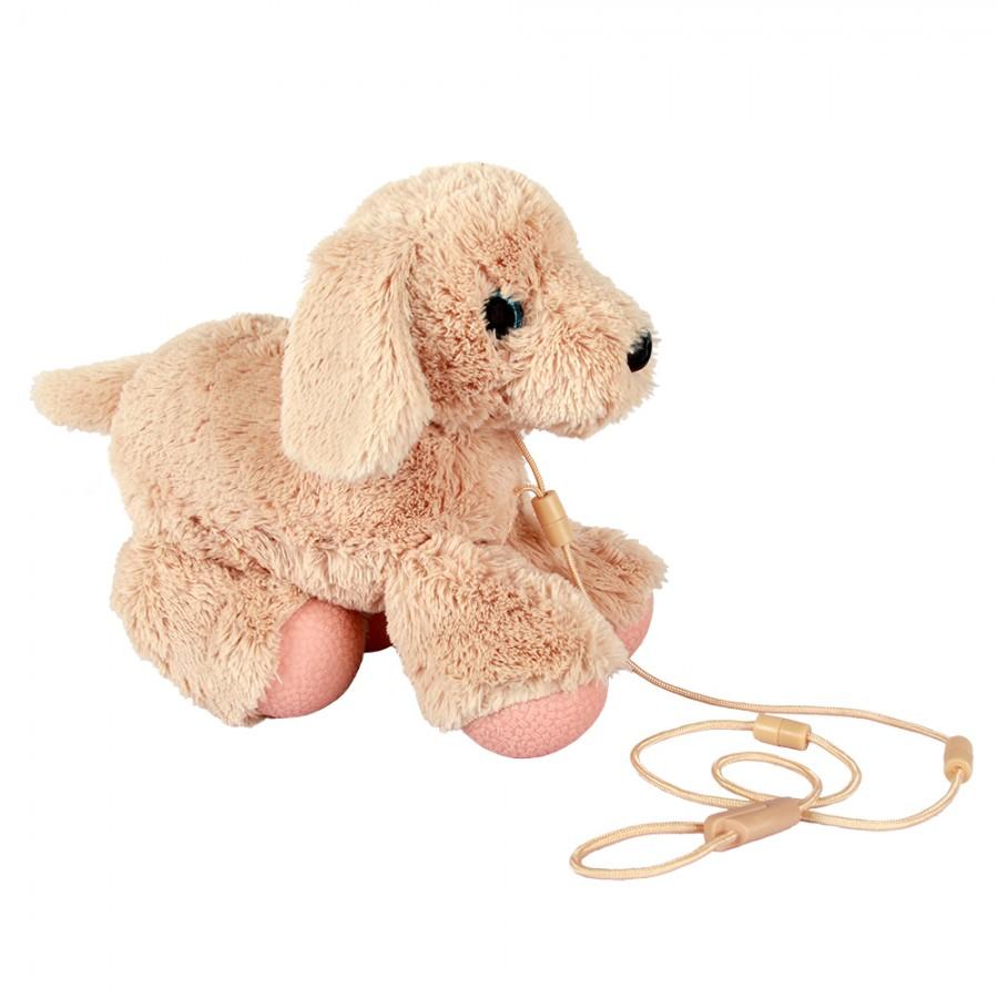 Мягкая игрушка Собачка-шагачка - Золотистый ретривер, 25 смИнтерактивные животные<br>Мягкая игрушка Собачка-шагачка - Золотистый ретривер, 25 см<br>