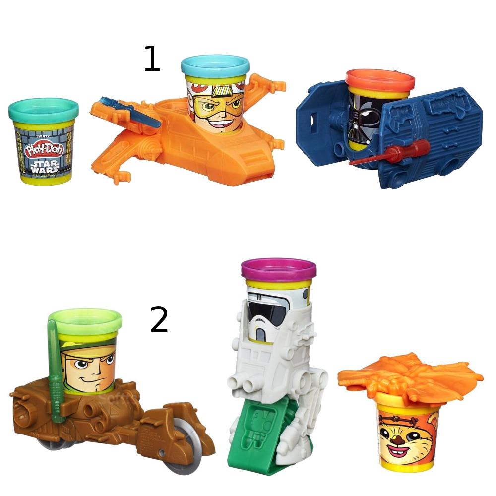 Транспортные средства героев Звездных войн из серии «Play-Doh»Пластилин Play-Doh<br>Транспортные средства героев Звездных войн из серии «Play-Doh»<br>