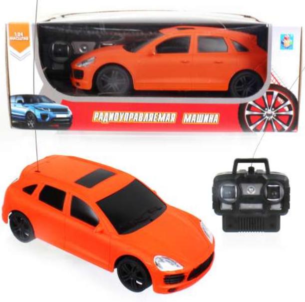 картинка Джип на радиоуправлении Спортавто, 1:24, 20 см, свет, оранжевая от магазина Bebikam.ru