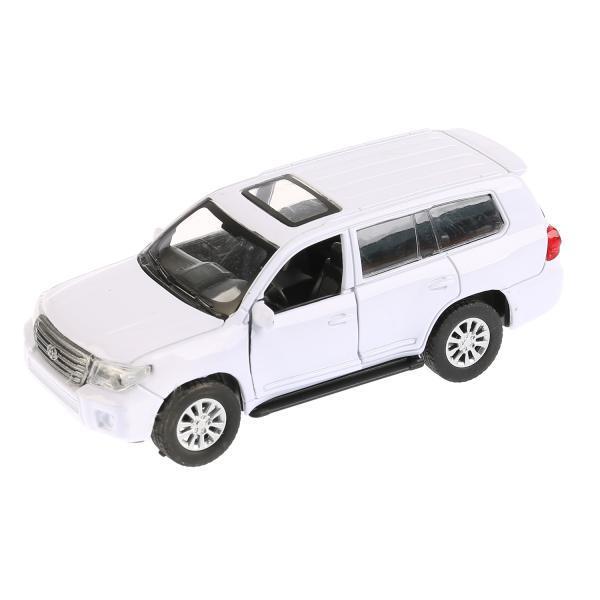 Купить Машина металлическая Toyota Land Cruiser, белая, 12, 5 см, открываются двери, инерционная, Технопарк