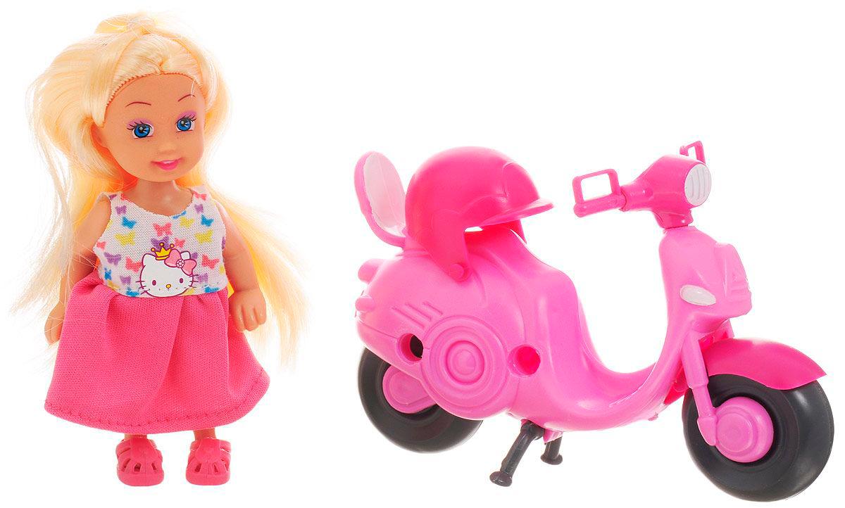 Купить Кукла Hello Kitty - Машенька на скутере, 12 см, Карапуз