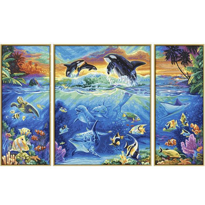 Раскраска Триптих Коралловые рифыРаскраски по номерам Schipper<br>Раскраска Триптих Коралловые рифы<br>