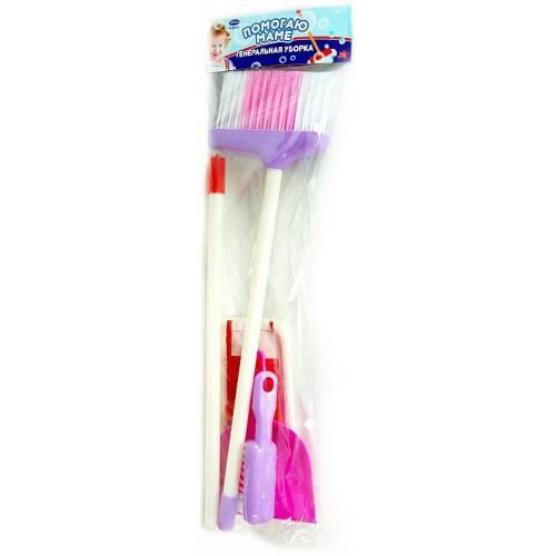Купить Набор из серии Помогаю Маме - Генеральная уборка, 4 предмета, в пакете ), JUNFA TOYS
